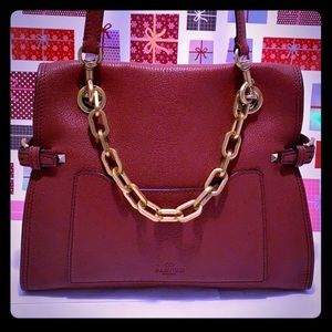 NWOT/NEW VALENTINO Red Leather CrossbodySling Bag.